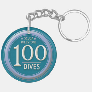100 Dives Keychain