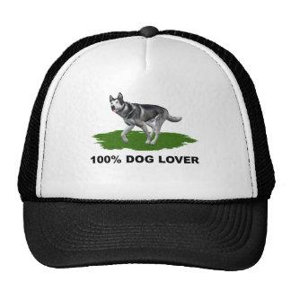100% Dog Lover     Siberian  Husky - Customized Hats