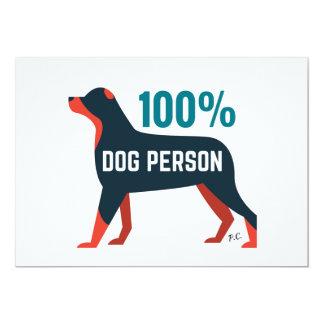 100% Dog Person Invite