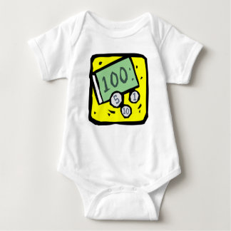 100 Dollar Bill Baby Bodysuit