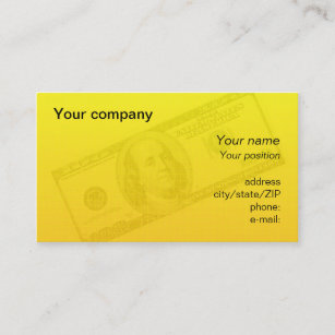 Dollar bill business cards templates zazzle 100 dollar bill business card colourmoves