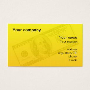100 dollar business cards templates zazzle 100 dollar bill business card colourmoves Image collections