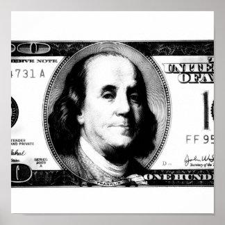 100 Dollar Bill Poster