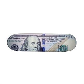 100 Dollar Bill Skateboard Mini