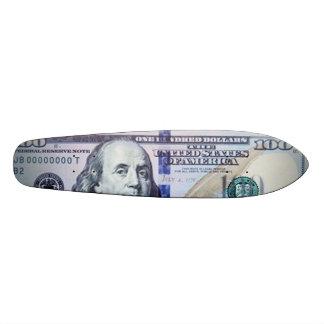 100 Dollar Bill Skateboard Oldschool