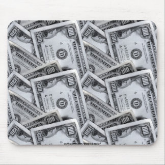 100 dollar bills mouse pad