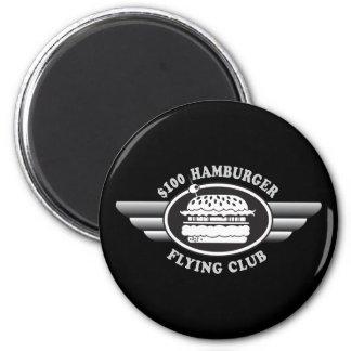 100 Dollar Hamburger - Flying Club 2 Inch Round Magnet