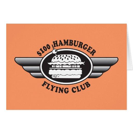 100 Dollar Hamburger - Flying Club Cards