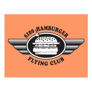 100 Dollar Hamburger - Flying Club Postcard