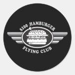 100 Dollar Hamburger - Flying Club Round Stickers