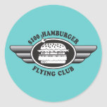 100 Dollar Hamburger - Flying Club Sticker