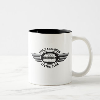 100 Dollar Hamburger - Flying Club Two-Tone Coffee Mug
