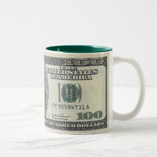 100 DOLLAR Two-Tone COFFEE MUG