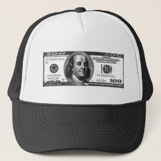 100 dollars trucker hat