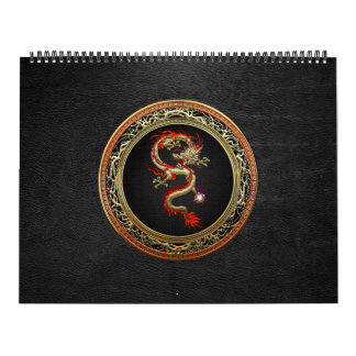 [100] Dragón chino de oro Fucanglong Calendario De Pared
