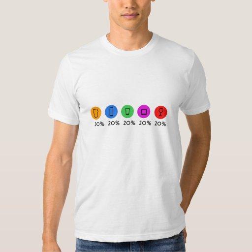 100% drinks t-shirt