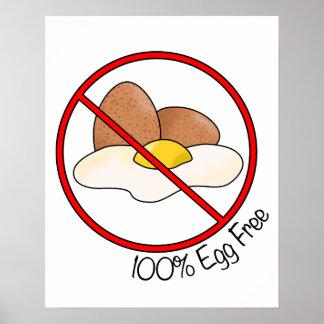 100% Egg Free Print