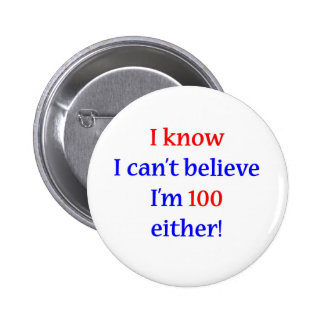 100 Either Pinback Button