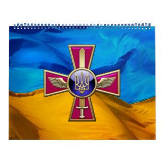 [100] Emblema ucraniano de la fuerza aérea Calendario De Pared