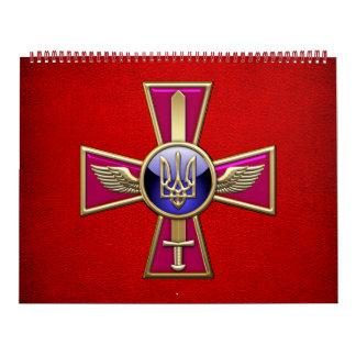 [100] Emblema ucraniano de la fuerza aérea Calendarios De Pared