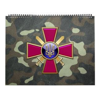 [100] Emblema ucraniano de las fuerzas de tierra Calendario