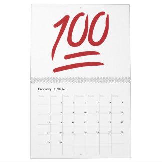 100 - Emoji Calendar