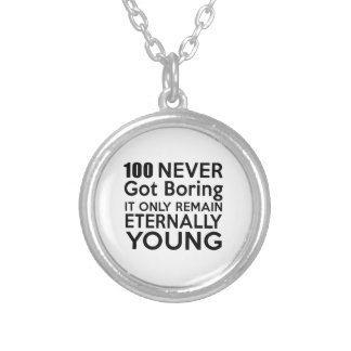 100 Eternally Young Birthday Round Pendant Necklace