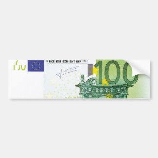 100 Euro Bills Bumper Sticker