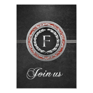 "[100] ""F"" Silver Vintage Monogram Card"