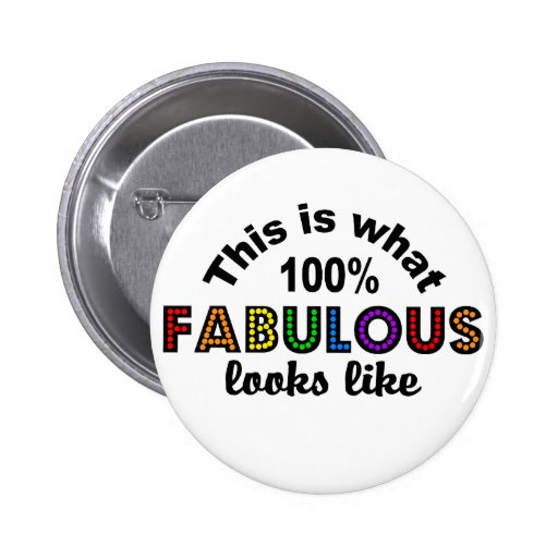 100% Fabulous button