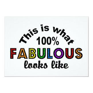 100% FABULOUS invitation, customize Card