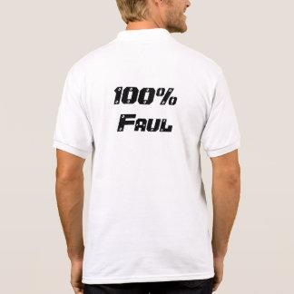 100% Faul Polo T-shirt