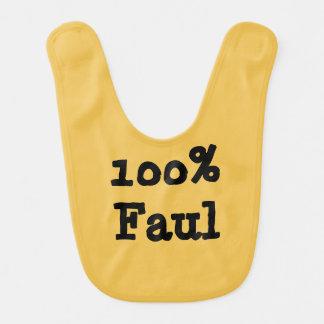 100% Faul Baby Bib