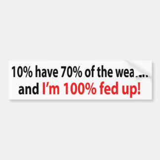 100% fed up! car bumper sticker