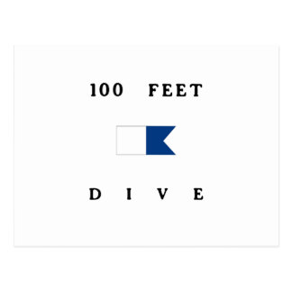 100 Feet Alpha Dive Flag Postcard