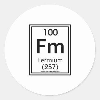 100 Fermium Classic Round Sticker
