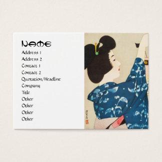 100 Figures of Beauties Wearing Takasago Kimonos Business Card