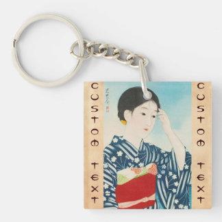 100 Figures of Beauties Wearing Takasago Kimonos Keychain
