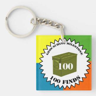 100 Finds Milestone Keychain