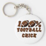 100% Football Chick T-shirts and Gifts. Key Chain