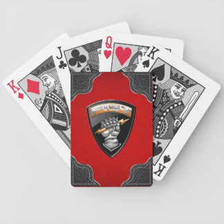 [100] Forward Observer (FIST) [Emblem] Bicycle Playing Cards
