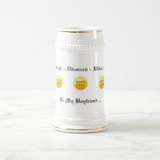 100% Free Stein Mug (White Gold) 18 oz