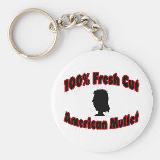 100% Fresh Cut American Mullet Keychain