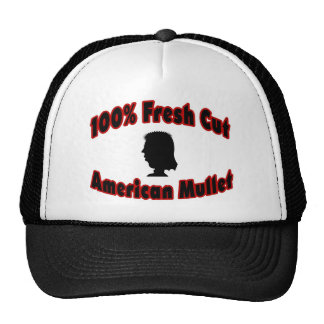 100% Fresh Cut American Mullet Trucker Hat