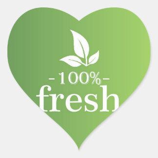 100% Fresh Heart Sticker