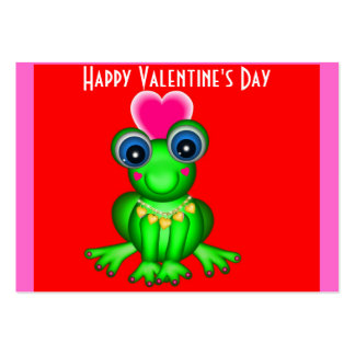 100 Froggy Valentine Cards Business Cards