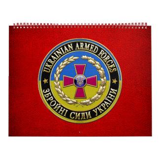 [100] Fuerzas armadas de arma del ucraniano Calendario De Pared