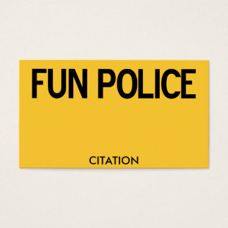 100 Fun Police Citation Business Cards