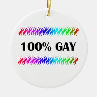 100% Gay Ceramic Ornament