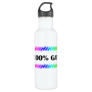 100% Gay Stainless Steel Water Bottle
